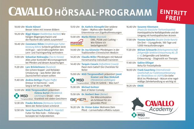 CAV Academy Programm Hörsaal 2018