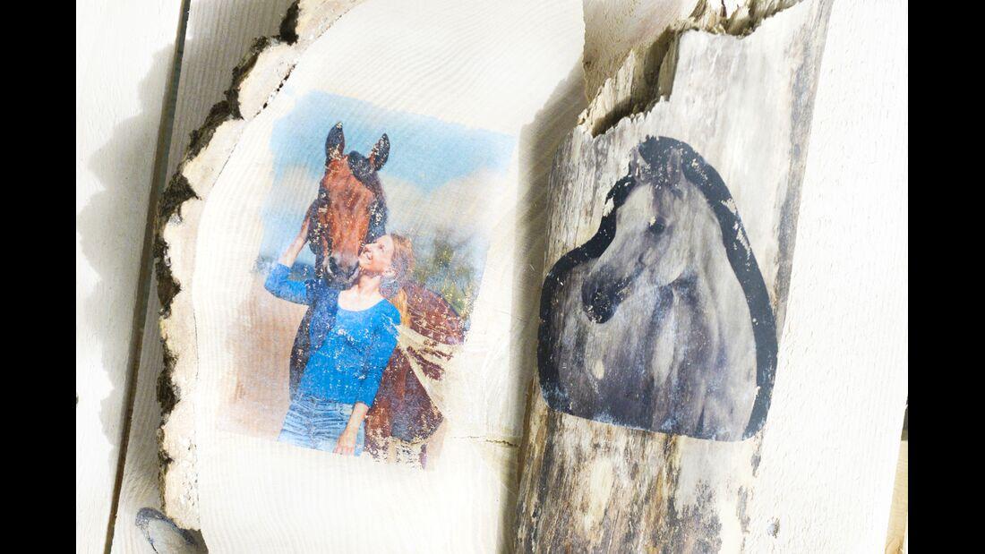 CAV Bastelecke Fotos auf Holz Holzstücke