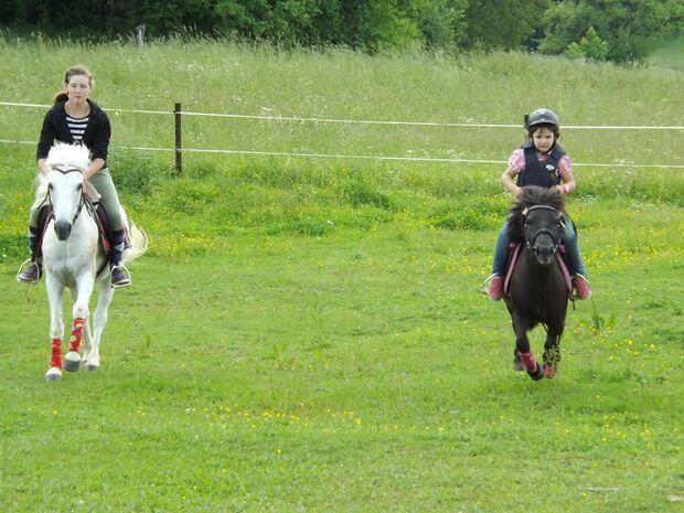 CAV CEWE Fotowettbewerb 2013 Leserfotos Leonie Kopf - Lesertext: Also hier macht eher meine Schwester mit und zwar ist sie 5 Jahr und reitet schon seit sie laufen kann auf dem bild zum Beispiel sieht man sie mit ihrem Pony im Galopp über die Koppel heizen