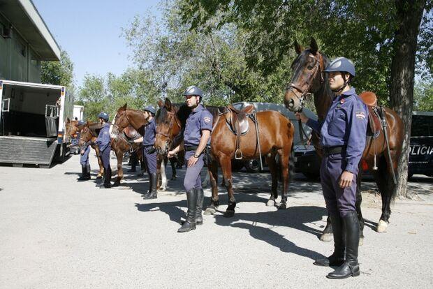CAV Caballeria Madrid Polizei-Reiter 10