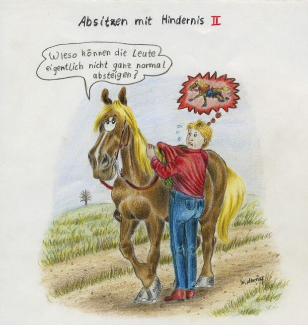CAV Cavallo-Cartoon Kirsten Marizy Cartoon Karikatur 01