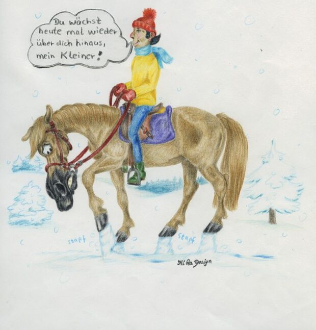 CAV Cavallo-Cartoon Kirsten Marizy Cartoon Karikatur 03