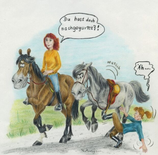 CAV Cavallo-Cartoon Kirsten Marizy Cartoon Karikatur 06