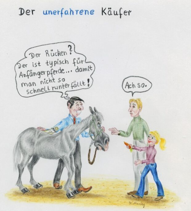 CAV Cavallo-Cartoon Kirsten Marizy Cartoon Karikatur 12