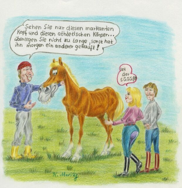 CAV Cavallo-Cartoon Kirsten Marizy Cartoon Karikatur 13