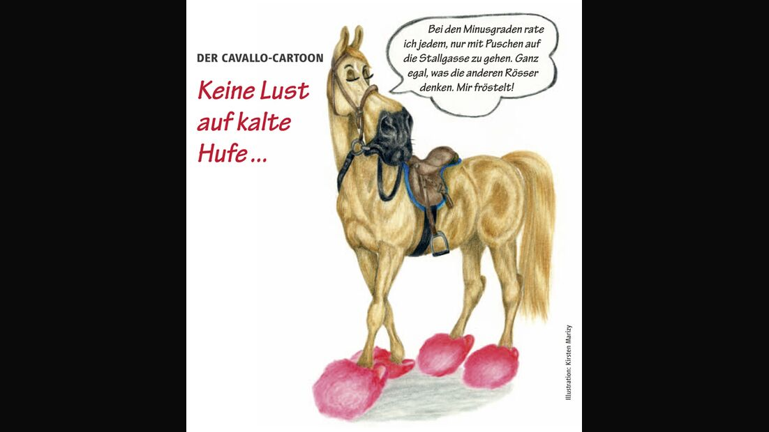 CAV Cavallo-Cartoon Kirsten Marizy Cartoon Karikatur 26