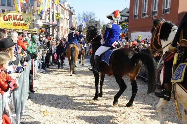 CAV Fasching Mainz Umzug Pferd scheut MS
