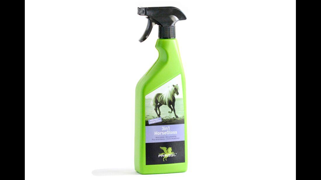 CAV  Fellspray Mähnenspray Schweifspray Pflege Test - BENSE & EICKE Parisol 3in1 HorseGloss