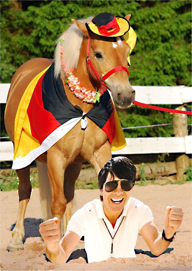 CAV Fußball-WM mit Pferden Andy