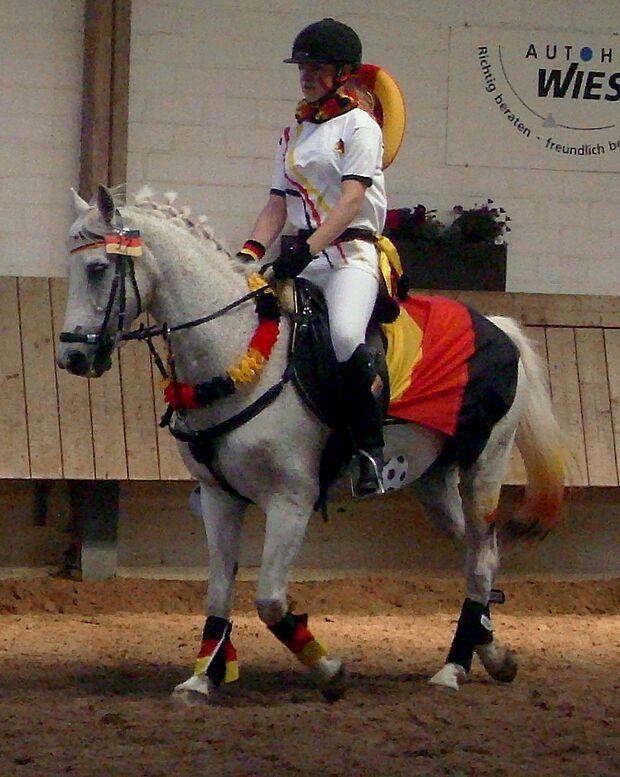 CAV Fußball-WM mit Pferden Darius