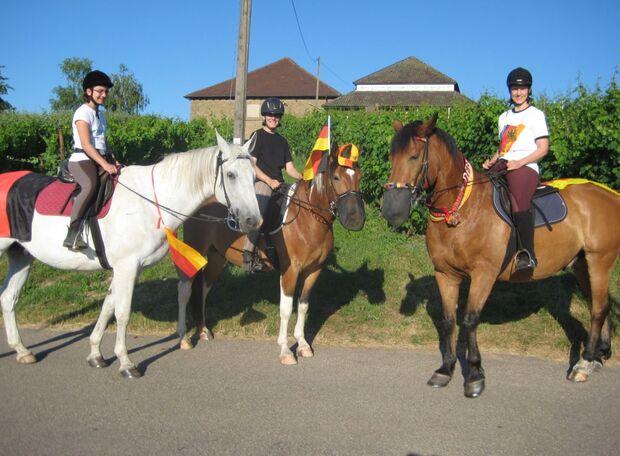 CAV Fußball-WM mit Pferden Ivan