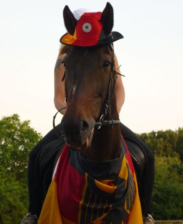 CAV Fußball-WM mit Pferden Lancelot