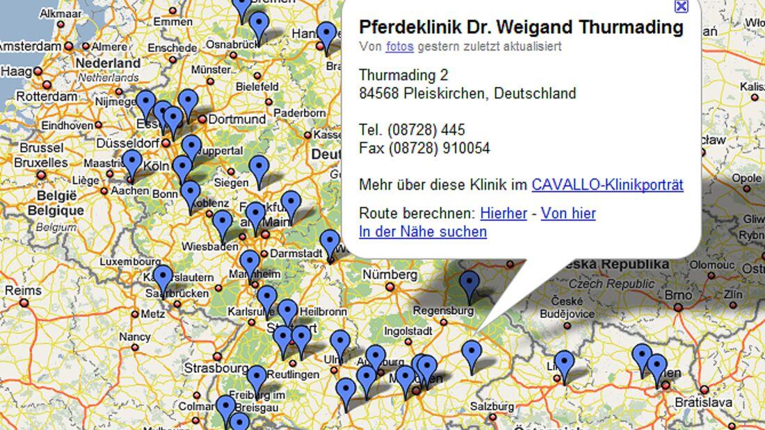 CAV Google Map Kliniken Teaser
