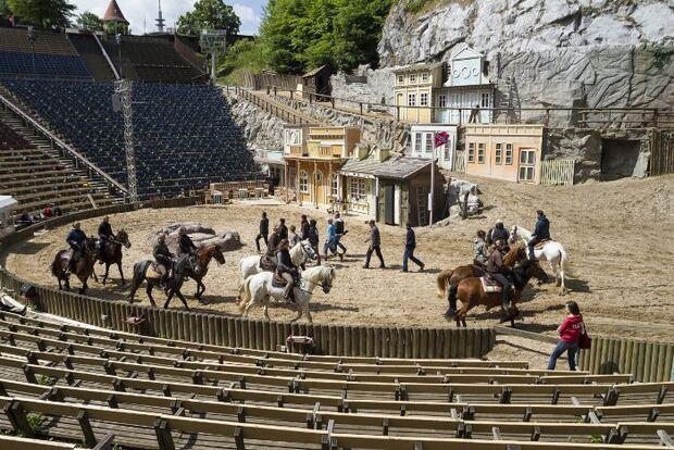 CAV Karl May Festspiele Show Stunt Showreiter