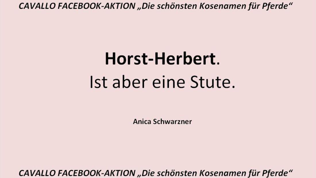 CAV Kosenamen Leserfotos 2014 - Horst-Herbert