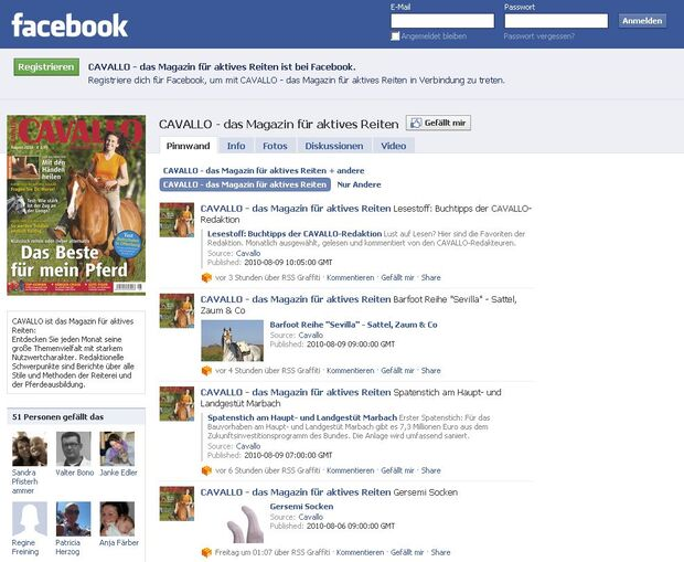 CAV News zu CAVALLO bei Facebook News
