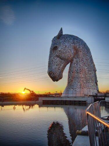 CAV Pferde-Skulptur The Kelpies Schottland