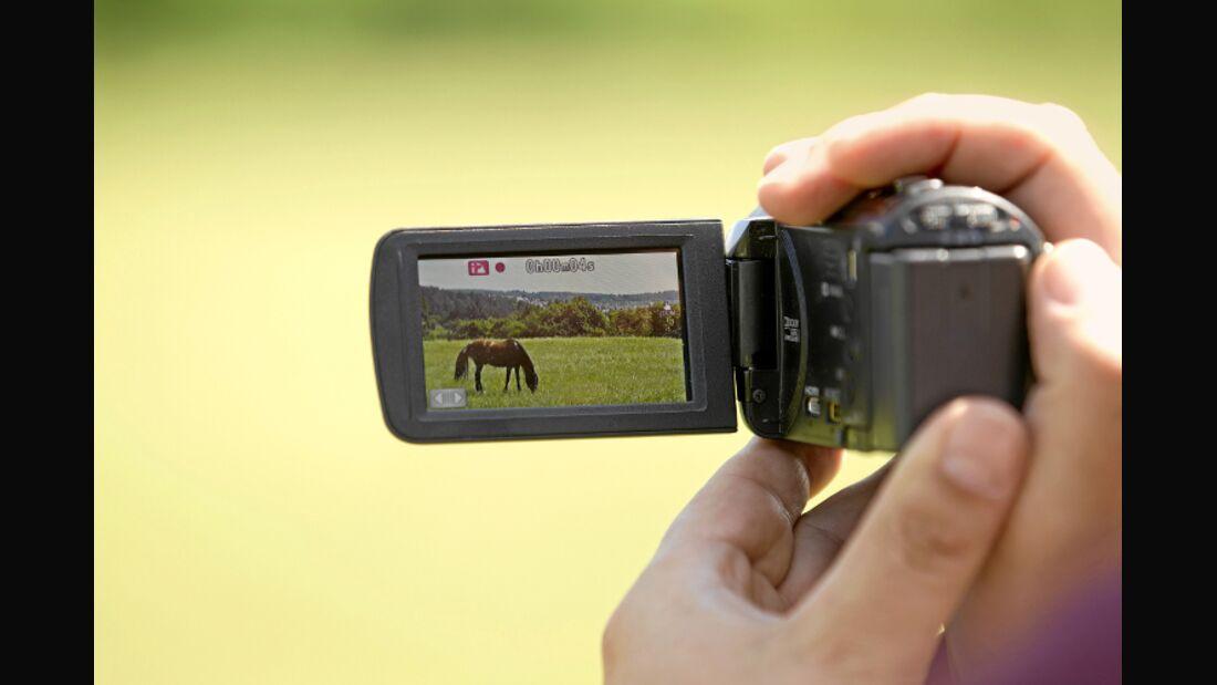 CAV Pferde filmen Video Kamera Camcorder