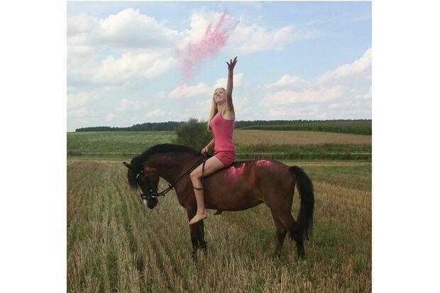CAV Sommer mit Pferden 2014 - Anna und Serry