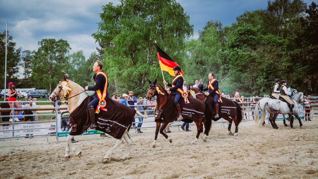 CAV WM Working Equitation Siegerehrung 2018