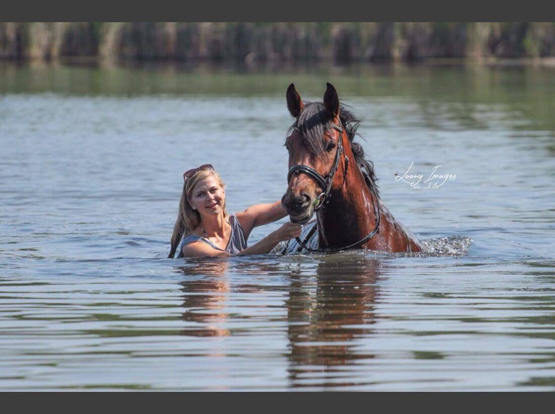 CAV Wasser Pferde baden Stefanie Schlegel