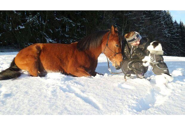 CAV Winter Schnee tierisch gut Mona Wunschel