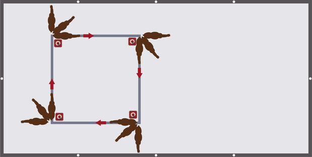Nimm die Beine in die Hand - Der Schulterkick für Positionskontrolle der Vorhand