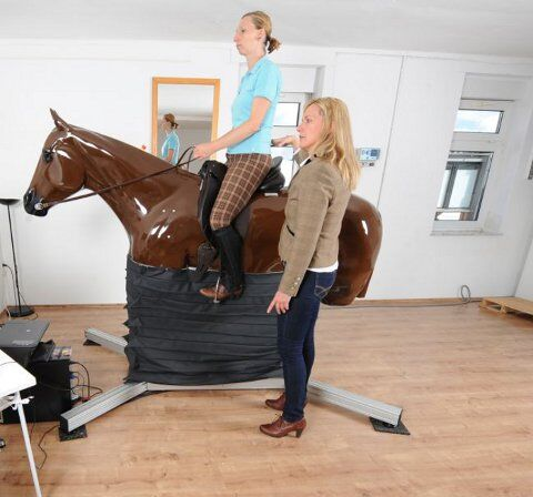 Reit-Simulator: Sitz-Coach Kunststoffpferd